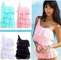 Free Shipping swimdress    Ladies Lovely Sexy Fanshion Monokini Swimdress Swimwear Swimsuit 4 colors