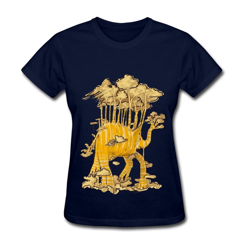 Regular Girls Tshirt Elephant trees Personalize Vintage Logos Tshirts for Girls 2014 Style(China (Mainland))