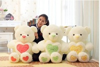free shippingnew 2014 hot sale New LOVE hold Heart Bear plush toy large teddy bear soft doll brinquedos kawaii baby toy stuffied