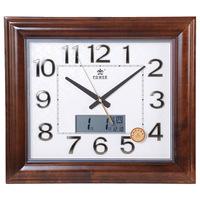 Genuine Duracell living room wall clock square quartz watches mute clock hanging wedding table Calendar Clock
