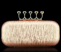 2014 new fashion female bags gem diamond ring bag day clutch evening bag women's wedding/party handbag XP147