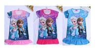 2014 Hot sale Frozen dresses Princess cute girl summer dress Elsa dress Anna clothes popular dress High quality
