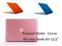 "For MacBook air 13.3"" Frosted Matte 11 solid color Laptop Hard Case Cover for mac book air 13.3"" (A1369/A1466)"