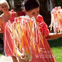 Fashion wedding ribbon fairy stick magic wand garland wedding decoration supplies lh18