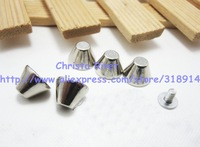 Promotional Retail 30pcs/lot 10*8mm Silver Screw Back Spike Punk Rock Style DIY Alloy Studs for Shoes and Belts
