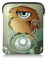 Fashion Cute Owl Zipper Protective Durable Sleeve Case Cover Pouch Skin Protector For Apple iPad 4/3/2/1 / Android Tablet PC