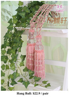 Curtain accessories tassels bind lashing pendant curtain buckle pink Crystal Buttons hang ball
