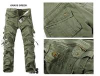 2014 New Men's Cargo Pants Multi Pockets Cotton Men's Pants Work Wear Military Army Style casual pants 6 Colors Plus Size 40