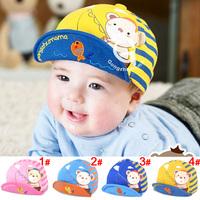 Retail 100% Cotton baby hats&caps Cartoon Fish Shaped Children Baseball Caps Kids Sun Hats For Baby 6-24months