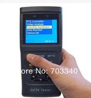 CCTV tester monitor security camera tester PTZ control video and cable testing 12V output led light 2.8""