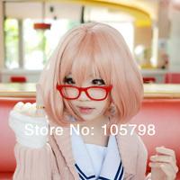 Beyond the Boundary Kuriyama Mirai Pink Orange Short Cosplay Wig