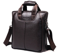 LENWEBOLO business shoulder messenger bags for men genuine leather tote handbag bag men black brown color high quality