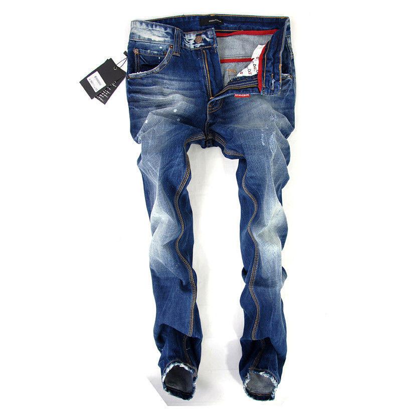 29-40#Blue#JYDSQ5002,New 2014 Italian Brand Men's Jeans,Original Fashion Warm Plus Size Straight Slim Whisker Perfume Jeans Men(China (Mainland))
