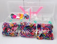 24 Sets per Lot Loom Kits 1 set contains 1 box 1800 bands 3 loom 72