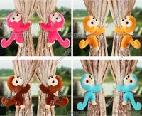 Baby Kid Toddler Child Infant Bedroom Animal Cartoon Monkey Window Curtain Tieback Tie Back Decor Holder Buckle Holdback Hooks