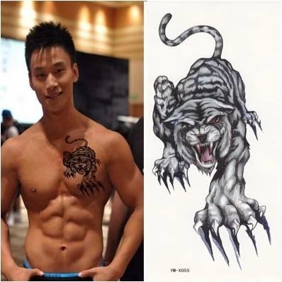 Тату тигр на запястье для мужчин