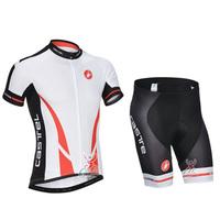 SWODART  Best Selling! 2014 Summer Cas Cycling Jersey+ 3D Shorts Sets Size:S-XXXL Drop Shipping!