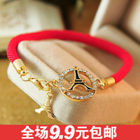 Free shipping 0695 accessories lucky red string sparkling bracelet transhipped lovers bracelet