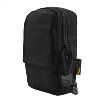Black mobile phone bag accessories bag male tactical small work bag tactical mini waist pack