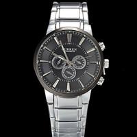 CURREN 8001A Black Dial Steel Band Men's Sports Wrist Watch