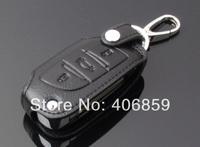 Free Shipping 2013 Citroen C4 L/C4 Leather Smart Key Holder/Key Sets(3 Button)  ngt
