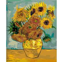 Digital oil painting 40 50 digital painting diy sunflower -