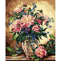 Digital oil painting 40 50 digital painting diy vase 2 digital oil painting hand painting
