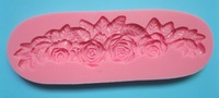 strip shape beautiful Rose shape fondant 3D molds, silicone mold, candle moulds, sugar craft tools, chocolate moulds, bake ware