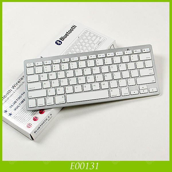 High Quality Bluetooth Wireless White Keyboard For PC Macbook Mac For ipad 3 ipad Mini For iphone 5 5S Samsung(China (Mainland))