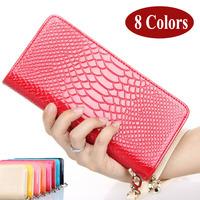 Fashion PU leather women wallets long design Female purse Ladies wallet  women's bag zipper lady fringe bag Free shipping WZ-120