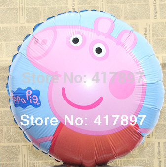 Peppa Pig Party Classic Baby Toys 11 Inch Foil Balloon 10PCS/LOT Pepa Pig Balloon(China (Mainland))