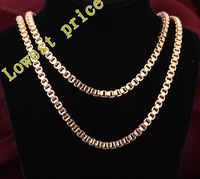 Really popular Design ! Wholesale 18K gold plated 60cm Perimeter Chains Necklaces fashion jewelry LN103