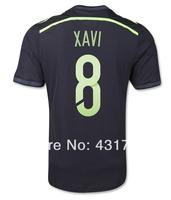 #8 XAVI Spain Away Jersey 2014 World Cup Jerseys Thailand Quality XAVI Jersey Spain Away Jersey 2014 Free Shipping