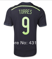 #9 TORRES Spain Away Jersey 2014 World Cup Jerseys Thailand Quality TORRES Jersey Spain Away Jersey 2014 Free Shipping