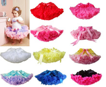 2014 New 1Pc Baby Girl Kid Infant Toddler chiffon fluffy Pettiskirt Tutu Skirt princess Party Dance Clothes 3-9 years(China (Mainland))