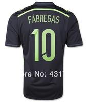#10 FABREGAS Spain Away Jersey 2014 World Cup Jerseys Thailand Quality FABREGAS Jersey Spain Away Jersey 2014 Free Shipping