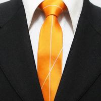 New Trend Mens Novelty Popular Neckties For Man Orange With White Skinny Casual Unique Neck Ties Gravatas 5CM F5-K-2