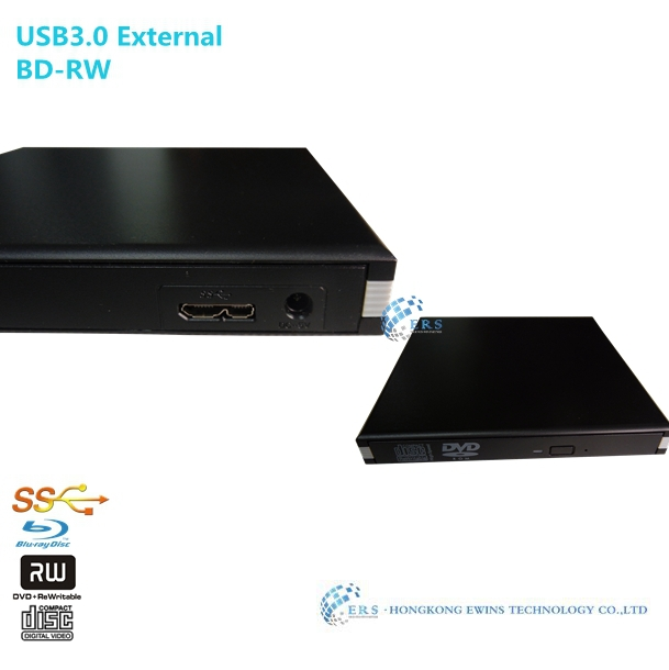 Накопитель на оптических дисках ERS usb3.0 blu/ray DVD DVDrw bd/re Slot in External USB2.0 Blu-ray DVD Burner blu ray плеер sony bdp s5500 bdps5500b ru3