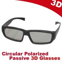 Free shipping High Quality New circular polarized Passive 3d glasses for home 3D TV Real D system Movie theater DVD Movie Game