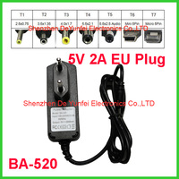 Europe AC DC Adapters 5V 2A Micro USB Charger Cheapest Power Adapter Charger For Tablet PC BA-520