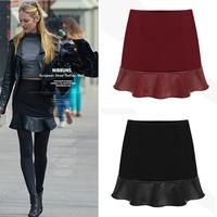 New 2014 Women Shorts Women High Waist Shorts Women Hot Pants Women Patchwork Dress Plus Size S-L 2 Color WHP006