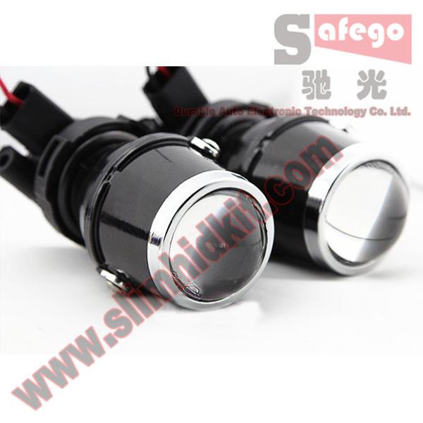 1 paio proiettore fendinebbia 12v auto lente del proiettore alogene lente lampada del proiettore faro lampadina xenon hid proiettore lente h3 bianco
