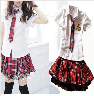 De mode japonais uniforme scolaire ensembles. manches courtes en coton ...