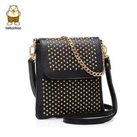 2014 vintage small bag fashion women's casual rivet shoulder bag women's handbag messenger bag