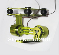 free shipping!CNC Alloy Brushless Camera Gimbal & Motors for Gopro 2 3 DJI Phantom PTZ Green/black/silver/Purple