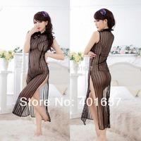 Women's Sexy Lingerie long dress Sleepwear Underwear Free size uniform, Gauze Sexy Lingerie