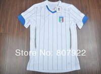 Embroidery Logo 2014!!! Italy Away White Soccer Shirt,Thailand Quality Italy White Jersey+Free Shipping
