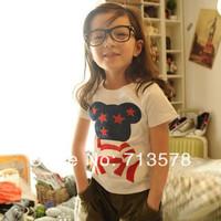 spring 2014 summer dress ,girl and boy t-shirt Free shipping