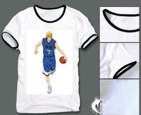 Free shipping animiation peripherals kuroko no basketball printing casual wicking material short shirts vivid color sport tees B
