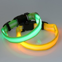 High quality LED Cat Dog Pet Collars Flashing Light Up Collar 8 colors 4 size
